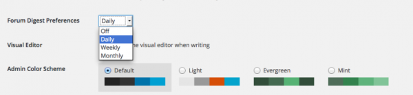 Users select when they want the digests to arrive