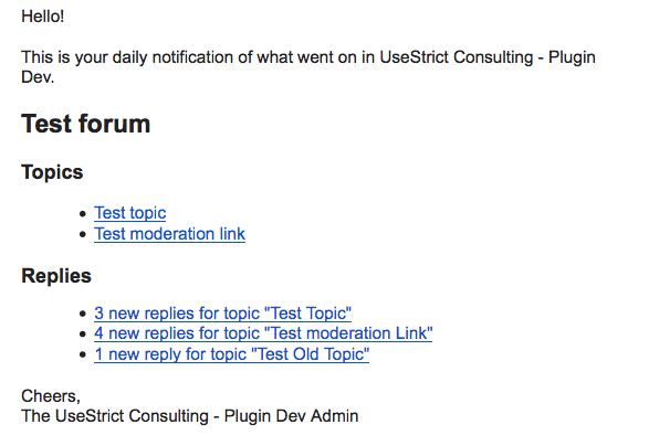 Sample Digests Email